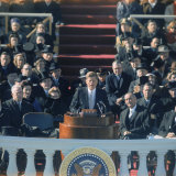 Pres. John F. Kennedy Delivering His Inaugural Speech Photographic Print