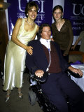 Paralyzed Actor Christopher Reeve Wife Dana and Daughter Alexandra at the National Horse Show Premium Photographic Print by Dave Allocca