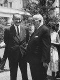 President Lyndon B. Johnson Welcoming Australia's Prime Minister Robert G. Menzies to White House Premium Photographic Print