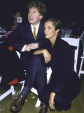Model Lauren Hutton with Her Boyfriend, Producer Malcolm Mclaren Premium Photographic Print