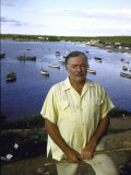 "Ernest Hemingway at a Cuban Fishing Village Like the One in His Book ""The Old Man and the Sea"" Premium Photographic Print by Alfred Eisenstaedt"