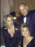 Actress Sharon Stone and Sister Kelly with their Father Premium Photographic Print by Mirek Towski