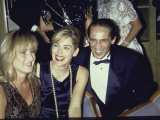 Actress Sharon Stone with Sister Kelly and Brother Michael Premium Photographic Print by Kevin Winter