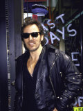 Musician Bruce Springsteen, Wearing Sunglasses Premium Photographic Print