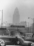 Los Angeles Smog Premium Photographic Print by Allan Grant