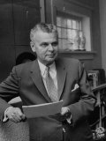 Canadian Prime Minister John Diefenbaker Premium Photographic Print