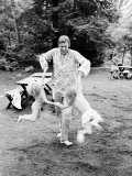 Actor Donald Sutherland Playing with His Children Premium Photographic Print