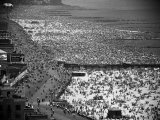 Crowds Filling the Beaches of Coney Island on the Fourth of July Premium Photographic Print by Andreas Feininger