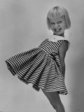 Very Cute Young Model Wearing a Dress Photographic Print by Lisa Larsen