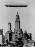 Zeppelin over NYC Premium Photographic Print