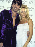Musician Tommy Lee and Wife, Actress Pamela Anderson Premium Photographic Print by Mirek Towski