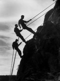 Rock Climbing Teenagers Premium Photographic Print