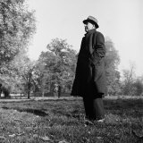 Scholar C.S. Lewis Standing in Open Field; Nr. Magdalen College, Oxford University Photographic Print
