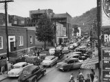 Mining Union Organization, Street Scenes Busy with Cars and Trucks Premium Photographic Print