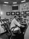 The Reactor Control Console, Located Above the Reactor Floor Premium Photographic Print by J. R. Eyerman