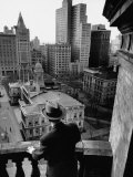 Ny City Hall as Seen from Balcony of Pulitzer-World Building Premium Photographic Print