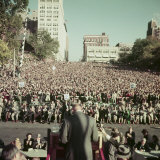 Dwight Eisenhower Speaking to Crowd During Presidential Campaign Photographic Print by John Dominis