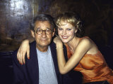 Photographer Helmut Newton and Model Eva Herzigova Premium Photographic Print by Dave Allocca