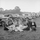 People Picnicing on the Lawn on Day of Performance at the Glyndebourne Opera Photographic Print