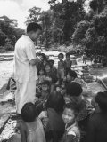 King Norodom Sihanouk of Cambodia Speaking to People Premium Photographic Print by Lisa Larsen