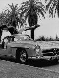 Mercedes Gullwing, voiture de sport aux portes papillon Reproduction photographique par Ed Clark