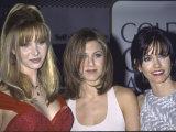 Actresses Lisa Kudrow, Jennifer Aniston and Courteney Cox at Golden Globe Awards Premium Photographic Print by Mirek Towski