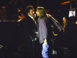 Musicians Bruce Springsteen and Axl Rose Performing Premium Photographic Print