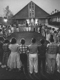 "Teenage Members of a Church Joining Hands for a ""Friendship Circle"" Premium Photographic Print"