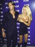 Model Marcus Schenkenberg and Actress Pamela Anderson at Peta Benefit Premium Photographic Print by Mirek Towski