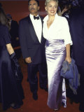 Newspaper Reporter Phil Bronstein and Wife, Actress Sharon Stone, at Academy Awards Premium Photographic Print by Mirek Towski