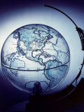 Globe Built by Robert H. Farquhar to Trace Orbit of Sputnik I Premium Photographic Print by Dmitri Kessel