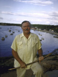 "Ernest Hemingway at a Cuban Fishing Village Like the One Used in His Book ""The Old Man and the Sea"" Premium Photographic Print by Alfred Eisenstaedt"