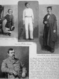 Portraits of Scottish-Born Writer Arthur Conan Doyle at Ages 4, 14, 22 and 32 Premium Photographic Print