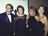 Actress Sharon Stone with Sister Kelly, Brother Michael and Mother Premium Photographic Print by David Mcgough