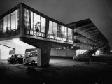 New Motel, Restaurant and Glass and Steel Garage Premium Photographic Print by Ralph Crane