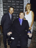 Actors Michael J. Fox, Christopher Reeve and Wife Dana at George The Creative Coalition Event Premium Photographic Print by Dave Allocca