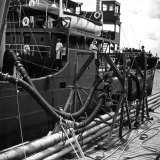 El Barco Oil Being Piped into Texaco and Socony-Vacuum Tankers Photographic Print
