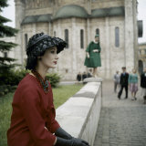 Dior Models in Soviet Union for Officially Sanctioned Fashion Show Photographie
