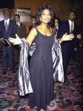 "Television Personality Oprah Winfrey at Film Premiere of Her ""Beloved"" Premium Photographic Print by Marion Curtis"