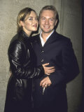 """Actress Kate Winslet and Husband, Director Jim Threapleton, at Film Premiere of Her """"Holy Smoke"""" Premium Photographic Print by Marion Curtis"""