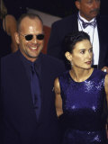 Married Actors Bruce Willis and Demi Moore at Primetime Emmy Awards Premium Photographic Print by Mirek Towski
