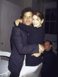 Fashion Designer Isaac Mizrahi and Model Cindy Crawford Premium Photographic Print by Dave Allocca
