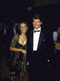 Actor Christopher Reeve and Wife Dana Premium Photographic Print by Kevin Winter