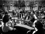 Participants Watching Couples Dancing During the Waltz Evening Premium Photographic Print by Yale Joel