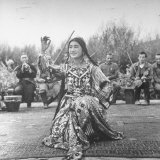 Uighur Dancer Performing to Music Photographic Print