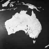 Orographical Map of Australia Photographic Print