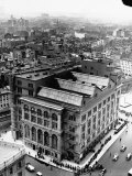 An Aerial View Showing the Exterior of the Cooper Union School Premium Photographic Print by Hansel Mieth