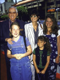 "TV Personality Ed Mcmahon and Wife, Pam Hurn and Children at Film Premiere of ""Hercules"" Premium Photographic Print by Mirek Towski"