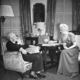 Senator Carter Glass and His Wife, Spending the Senator's Birthday at their Apartment Photographic Print