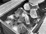 Crated Quartz Crystals That are Part of the U.S. Strategic Materials Stockpile Premium Photographic Print by Ed Clark
